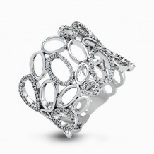 Simon G. 18k White Gold Diamond Ring