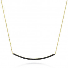 Gabriel 14K Yellow Gold Indulgence Black Diamond Necklace NK4274Y4JBD
