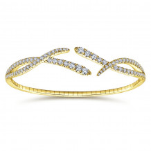 Gabriel & Co. 14k Yellow Gold Demure Bangle Bracelet - BG3985Y45JJ