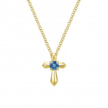 Gabriel & Co. 14K Yellow Gold Secret Garden Blue Topaz Necklace NK1696Y4JBT