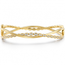 18k Gold Lorelei Floral Twist Bangle