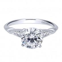 Gabriel & Co. 14k White Gold Round Straight Engagement Ring - ER11826R4W44JJ