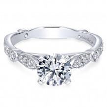 Gabriel & Co. 14k White Gold Round Straight Engagement Ring - ER6711W44JJ