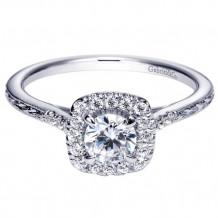 Gabriel & Co. 14k White Gold Round Halo Engagement Ring - ER8635W44JJ